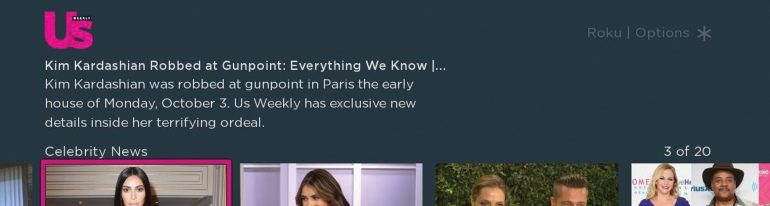 Roku Direct Publisher US Weekly App