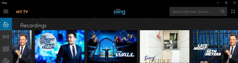 Sling TV on Windows 10