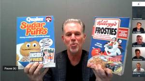 Reed Hastings Bandersnatch Frosties vs Sugar Puffs