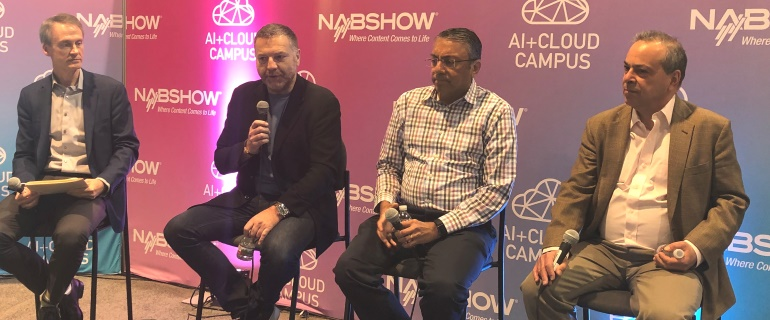 Speech and AI panel at NAB 2019 2